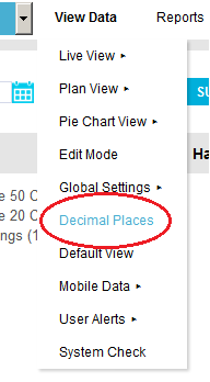 Decimal Places View Menu Drop Down2