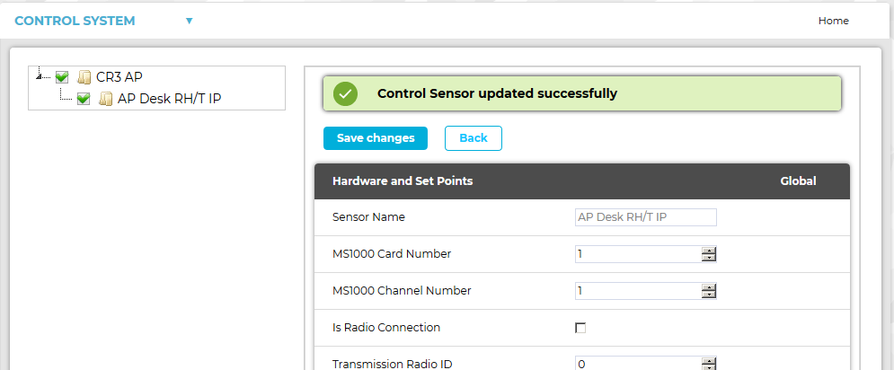 Conset Control Sensor Updated Confirm