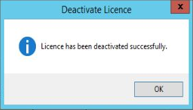 EMS Config - Licence Deactivated Successfully