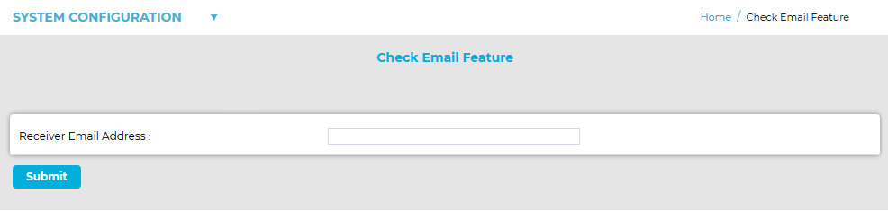 Check Email Feature Submit