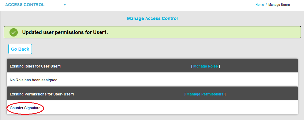 Manage Access Control Updated Permission New
