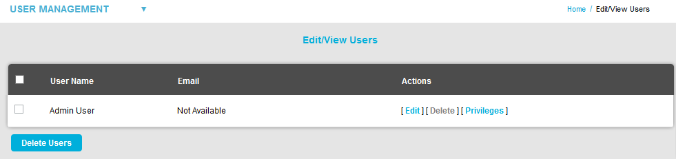 Edit-View Users Window New