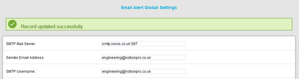 Email Alert Global Setting Record Updated2