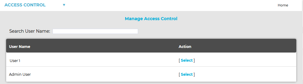 Manage Access Control 4 New