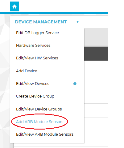 Device Management Drop Down