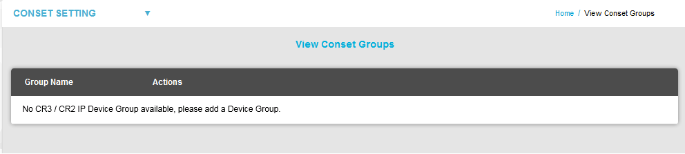 View Conset Groups No Device Group Available2