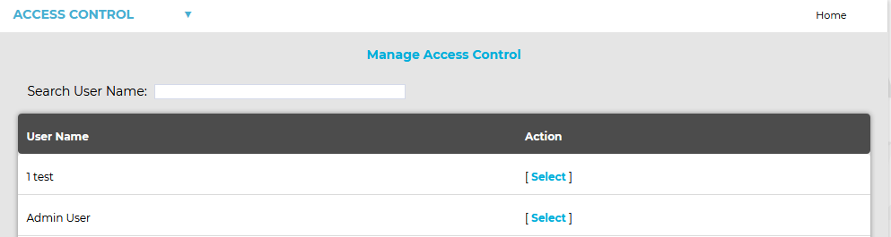 Manage Access Control Search
