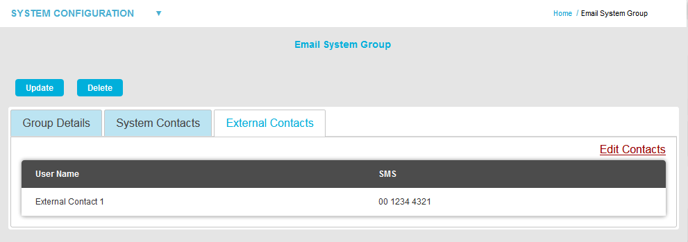 Email System Group - External Contacts Add