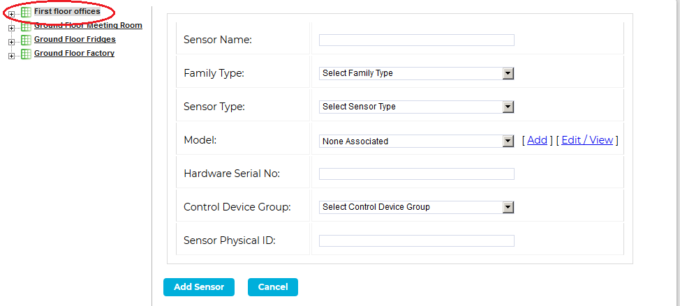 Add Sensor Window 2