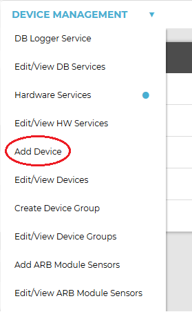 Device Management-Add Device2