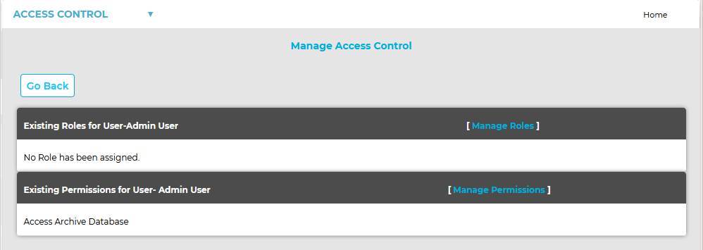 Manage Access Control 2