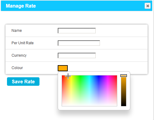 Manage Rate Colour Palette