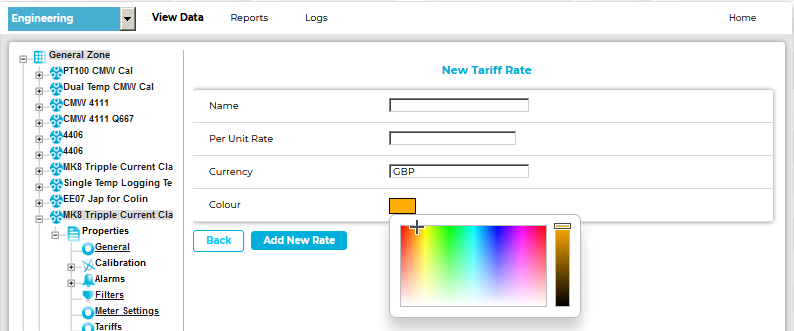 New Tariff Rate Palette OLD